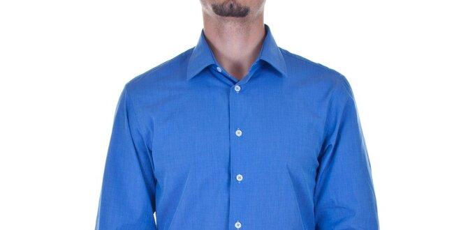 Pánská zářivě modrá košile Calvin Klein  f93d45ceba