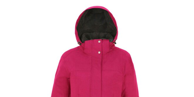 Dámský růžový kabát s kapucí Maier