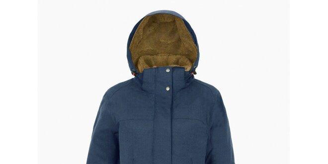 Dámský světle modrý kabát s kapucí Maier