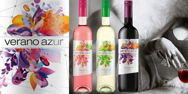 Letní slunce v sadě 3 bulharských vín