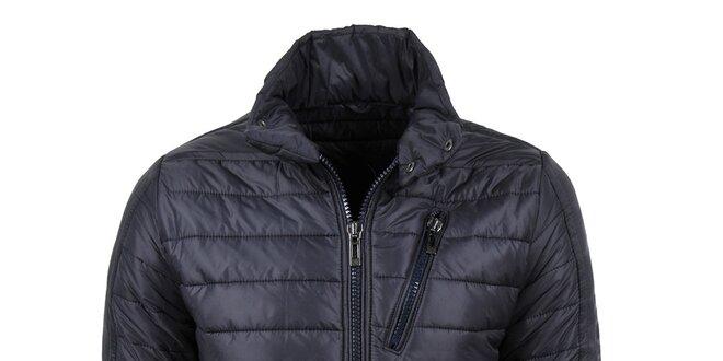 Pánská zimní prošívaná bunda v tmavě modré barvě Giorgio Di Mare ... f61a1c70579