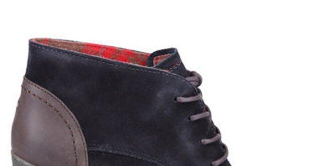 ace9e6ad59d1 Dámské tmavě modré boty na platformě Tommy Hilfiger