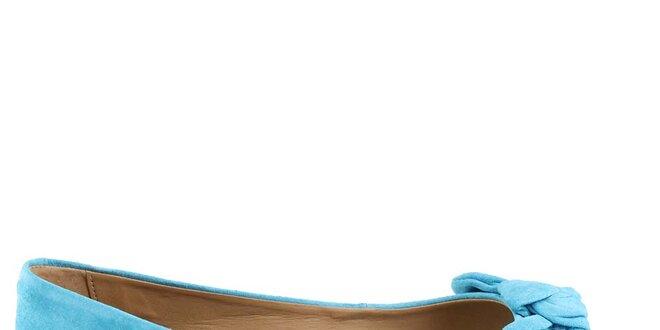 Dámské bleděmodré balerínky s otevřenou špičkou Arezzo