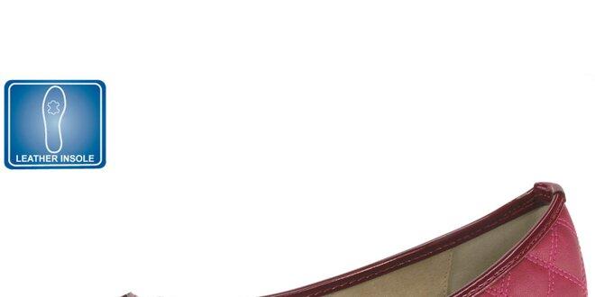 Dámské vínové balerínky s lesklou špičkou Beppi