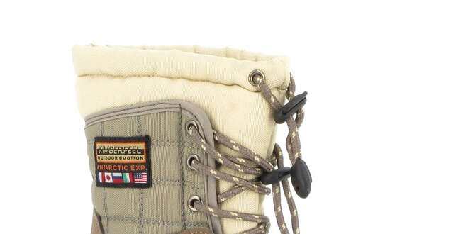 Dětské khaki-béžové sněhule Kimberfeel  7f08c17abb5