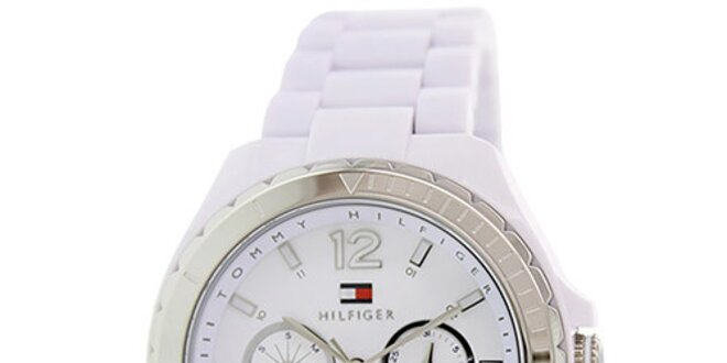 Dámské bílé analogové hodinky Tommy Hilfiger  10e073f4b26