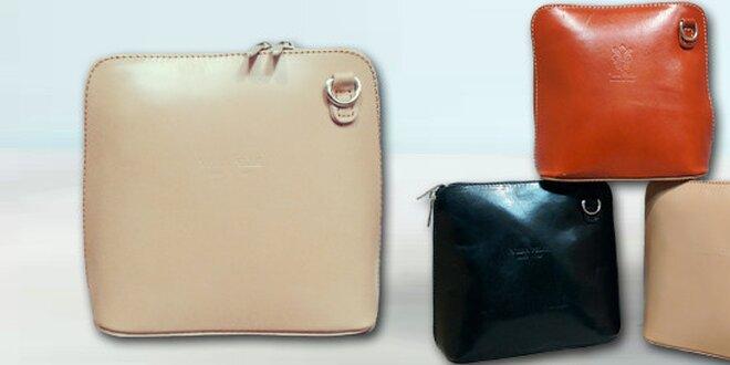 e2586b543ba8 Kožená dámská kabelka přes rameno Vera Pelle