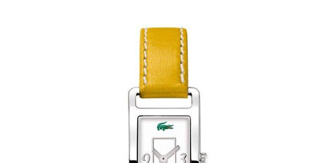 ede3785d2e6 Dámské hodinky Lacoste se žlutým řemínkem