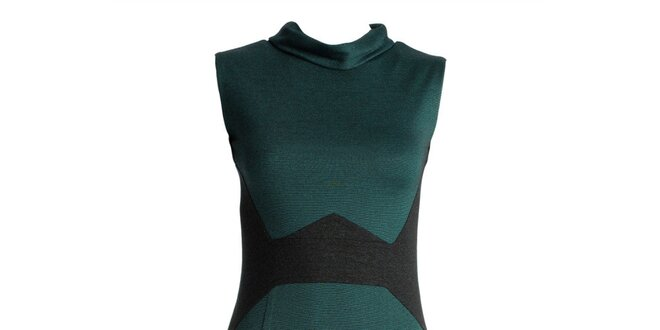 Dámské tmavě zelené šaty s černými vsadkami JDC London  b94ea70c28