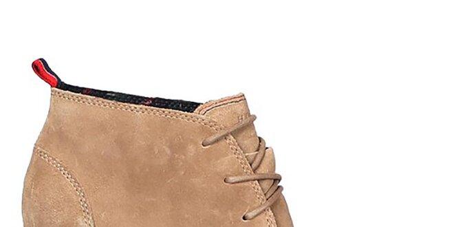 f940ac0544f Dámské béžové kotníkové boty Tommy Hilfiger
