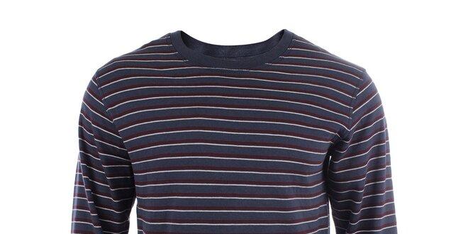 Pánské bavlněné triko s dlouhým rukávem a s barevnými proužky Big Star 03585032ca
