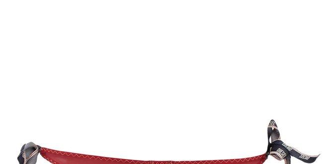 Dámské červené kalhotky se zavazováním Diesel