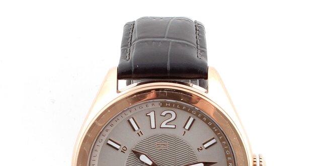 Dámské hodinky se vzorovaným koženým řemínkem Tommy Hilfiger ... ad292716d39