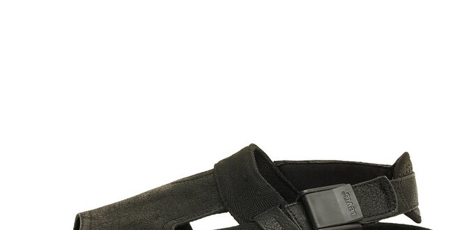 Černé kožené sandály Levi's