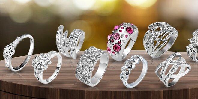 Prstýnky s českými krystaly + doprava v ceně
