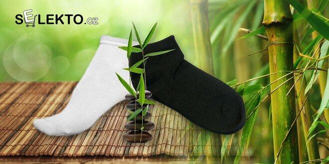 12 párů kotníkových ponožek s bambusem