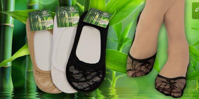 12 párů bambusových ponožek do balerínek