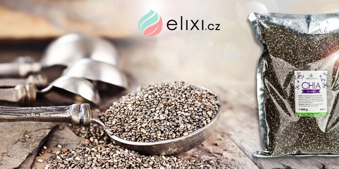 Kilo chia semínek Allnature pro zdravé trávení