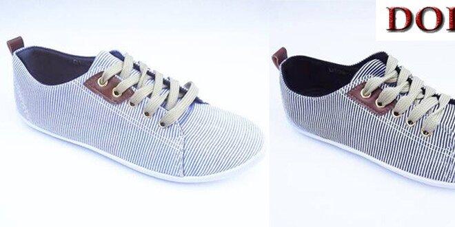 Dámské plátěné boty v námořním stylu  4972700049