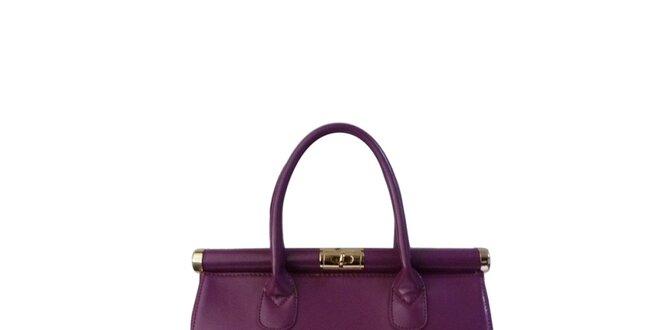 Dámská fialová lakovaná kabelka London Fashion