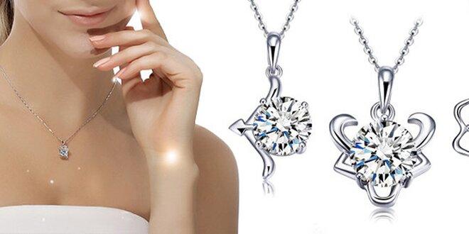 Luxusní náhrdelník Zodiac ve znamení zvěrokruhu se zirkony