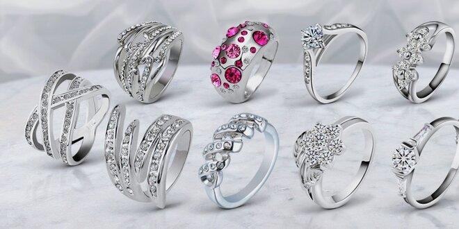 Krásné prsteny s českými krystaly