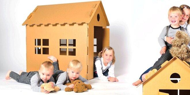 Dětský kartonový domeček NEST