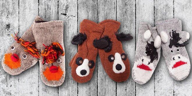 Zvířátková kolekce pletených rukavic