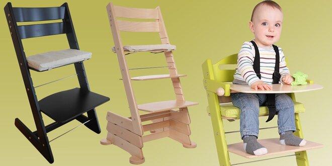Rostoucí židličky pro děti