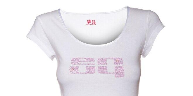 Dámské bílé tričko Envy s potiskem