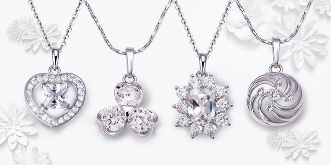 Rhodiované náhrdelníky se třpytivými zirkony