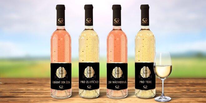Víno s 23karátovým zlatem na oslavu MDŽ
