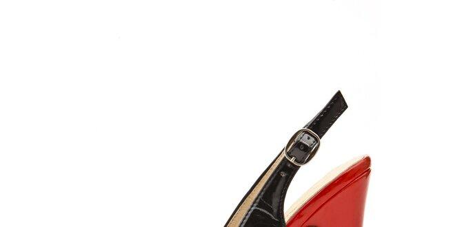 Dámské modro-červeno-černé lodičky s volnou špičkou Boaime