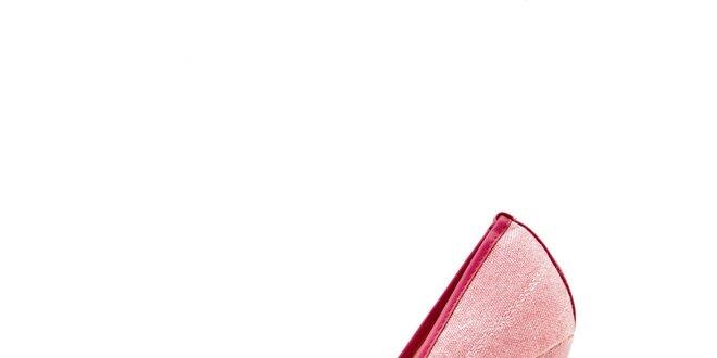 Dámské růžové lodičky s volnou špičkou Boaime