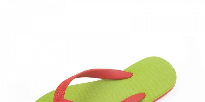 Zeleno-červené žabky Breo