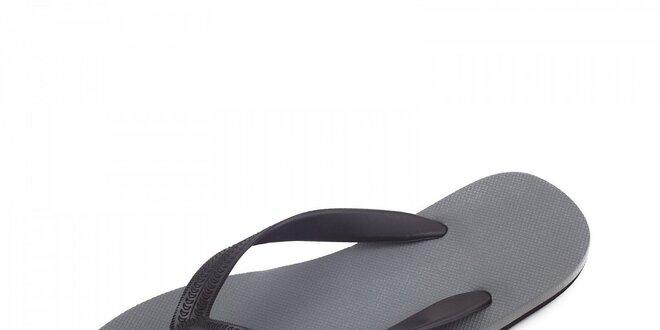 Šedo-černé žabky Breo