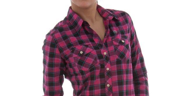 Dámská růžová kostkovaná košile Ecko Red