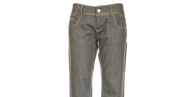 Dámské světle šedé džíny s prošívanými kapsami Roxy
