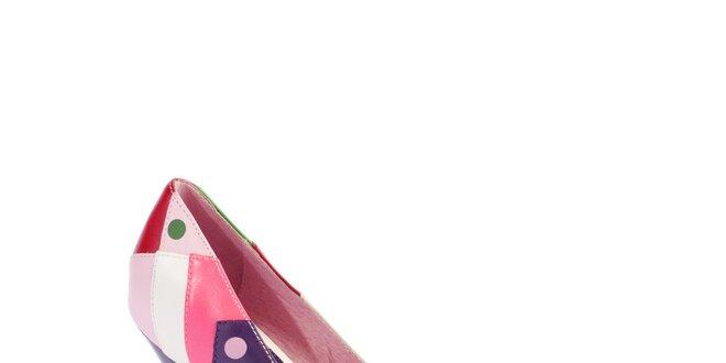 5570b86294 Dámské růžovo-fialové lodičky Lola Ramona s puntíky