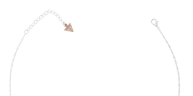 Dámský stříbrný náhrdelník Guess s přívěsky
