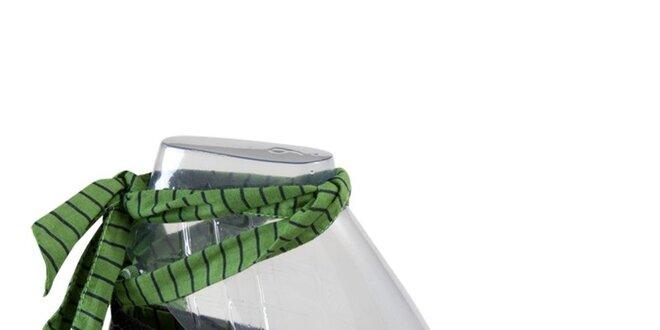 Dámské modré látkové espadrilles se zelenou stuhou Keds