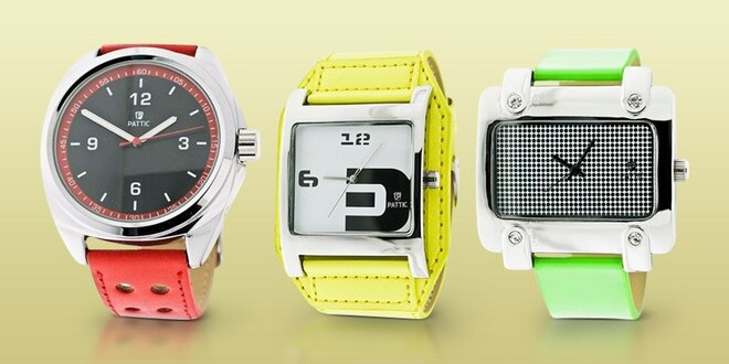 Stylové dámské i pánské hodinky od značky PATTIC  0c72e003ca