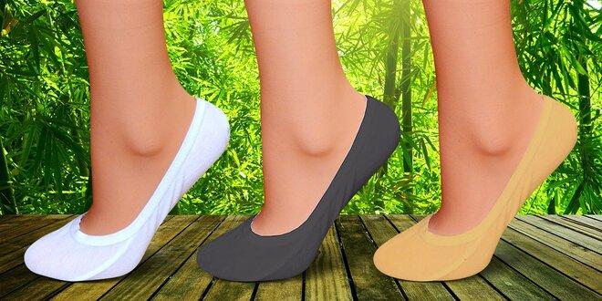 Bambusové ponožky do balerínek – na noze skvěle drží  f230eaa391