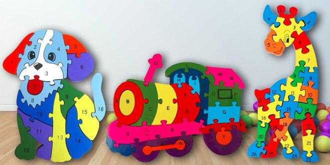 Vzdělávací dřevěné puzzle