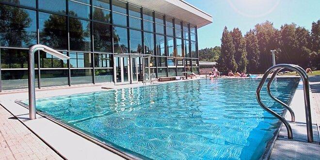 Pět vstupů do bazénu se saunou a vířivkou