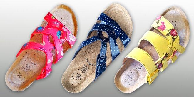 Dámské pantofle Samlux s koženou stélkou