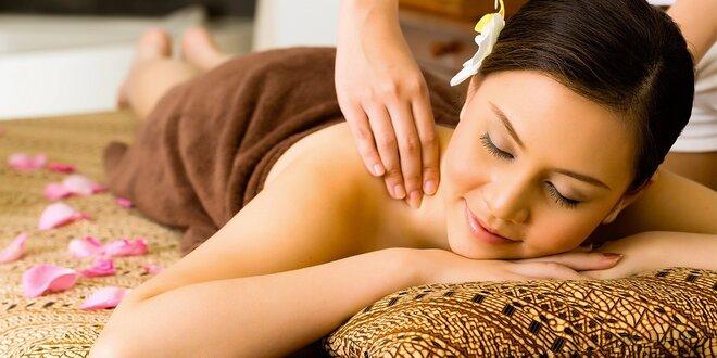 Masáž dle výběru z uvolňujících masáží