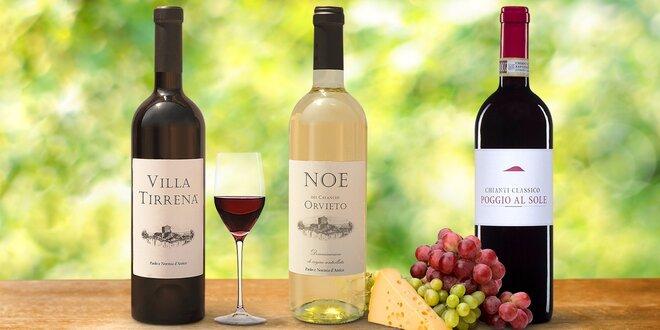 Italská vína pro domácí degustaci