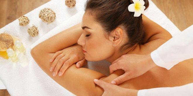 Relaxační masáž zad vč. zábalu