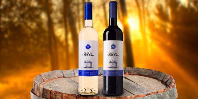 Dvě lahve lahodného portugalského vína